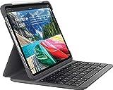 Logitech Slim Folio Pro iPad Hülle mit Kabelloser Bluetooth Tastatur, Für iPad Pro 12.9' 3. Generation (A1876, A1895, A1983, A2014), 14 iOS-Sondertasten, Magnetverschluss - Französisches AZERTY Layout