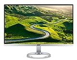 Acer H277HUsmipuz 69 cm (27 Zoll) Monitor (DVI, HDMI 2.0, USB 3.1 Type C, Displayport, WQHD 2.560 x 1.440, 4 ms Reaktionszeit, EEK B) silber