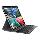 Logitech SLIM FOLIO PRO für iPad Pro 11 Zoll Tastatur-Case mit Hintergrundbeleuchtung und Bluetooth (Modell: A1980, A1934, A1979, A2013), Deutsches QWERTZ Layout Grafit