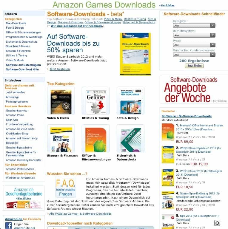 Amazon erweitert seinen Mac Download Shop