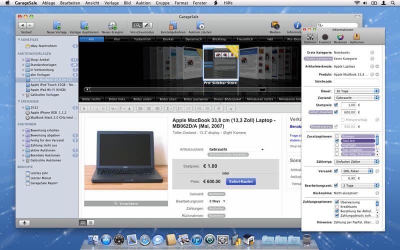 GarageSale für Mac