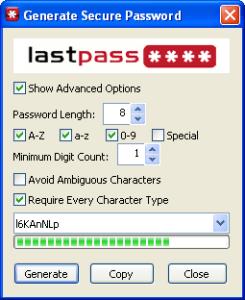 lastpass passwort generator