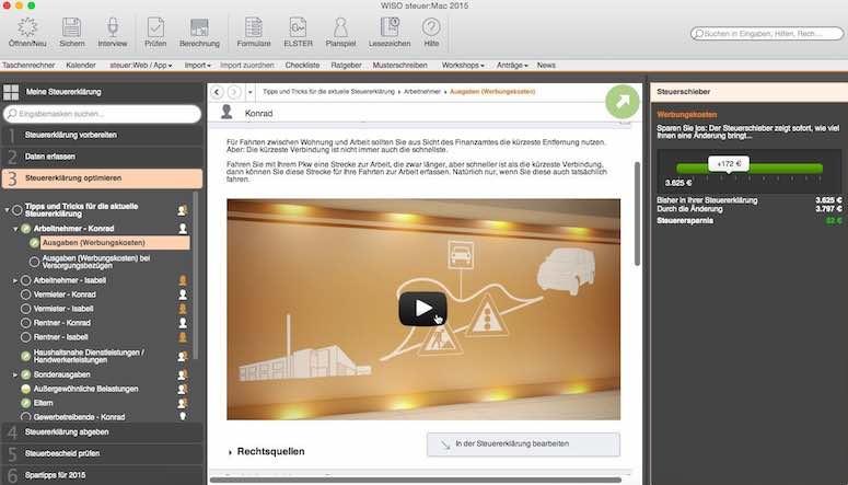 WISO Steuer Mac 2015 Video