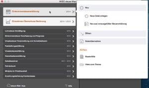 Wiso Steuer Mac 2015 screen1