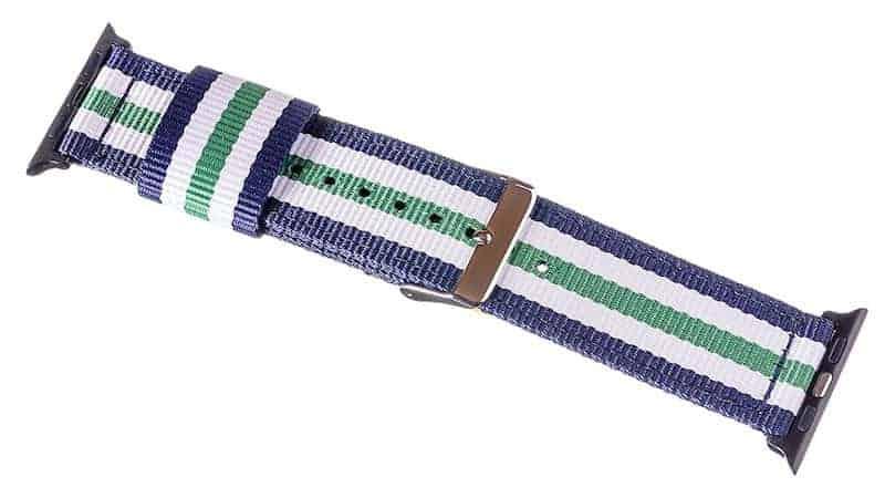 Apple Watch Nato Strap blau weiß grün