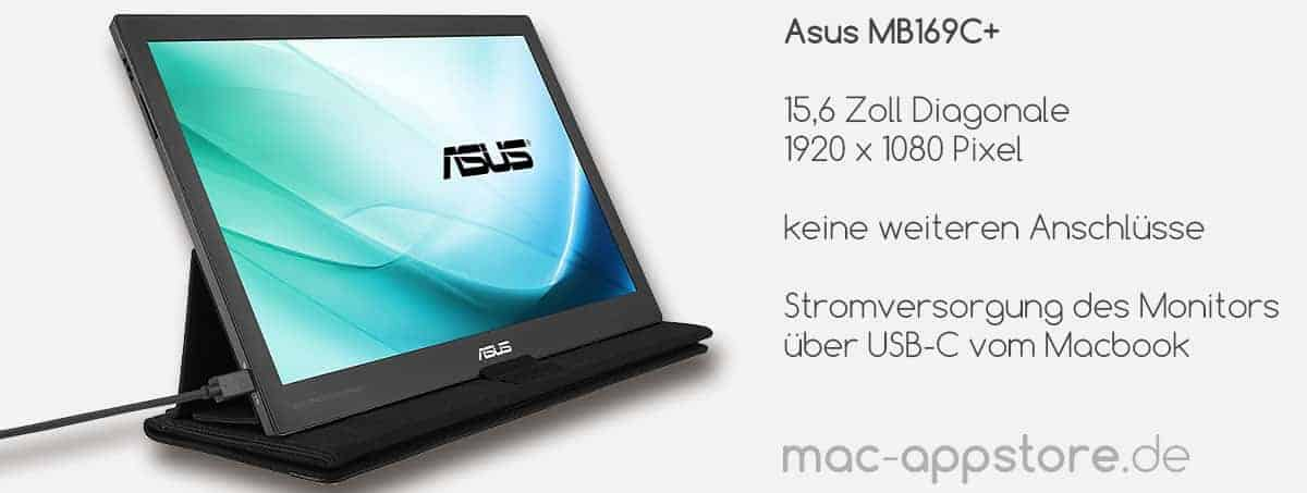 USB-C Monitor Asus MB169C+
