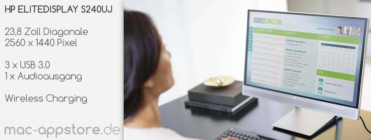 USB-C Monitor HP ELITEDISPLAY S240UJ