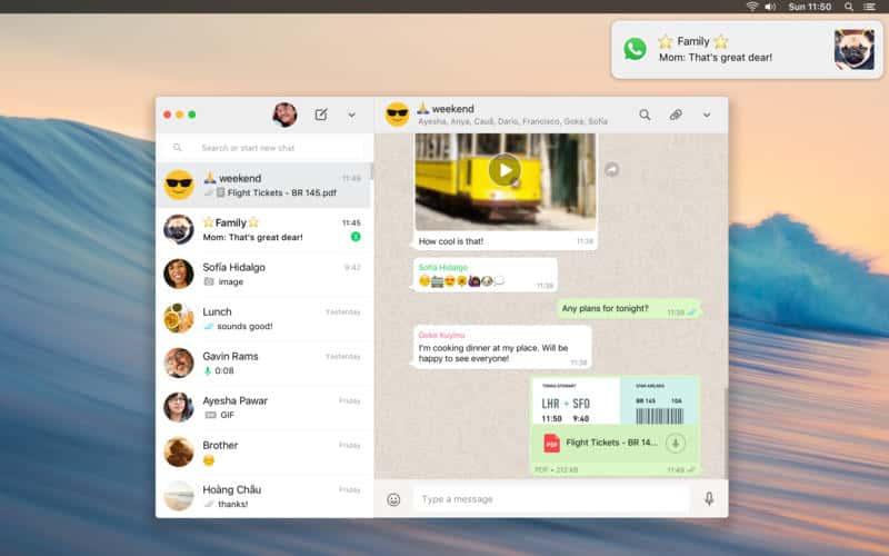 whatsapp offizell mac
