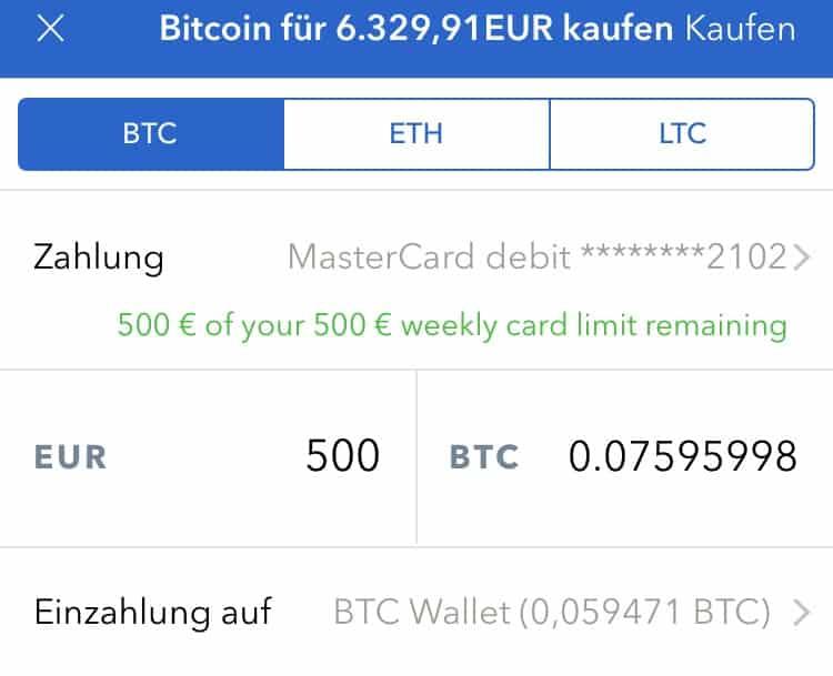 iPhone App Bitcoin