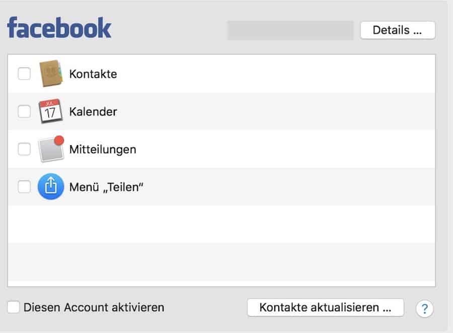 Facebook macOS löschen
