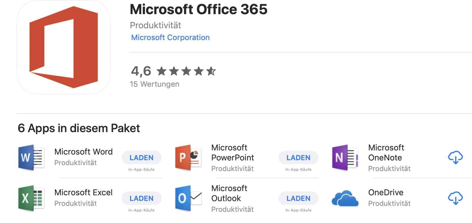 Office 360 Mac App Store